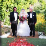 Romantic Flora Farms wedding ceremony