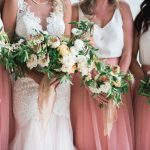 Cabo San Lucas blush bridesmaid dresses