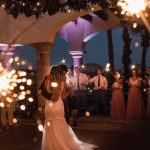 Wedding sparklers first dance