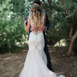 Romantic destination wedding dress
