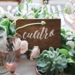 Cabo wedding table numbers