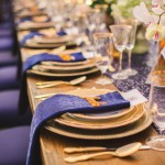 Midnight blue and gold wedding inspiration