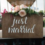 just married golf cart sign