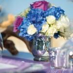 mercury-glass-blue-hydrangea-centerpiece